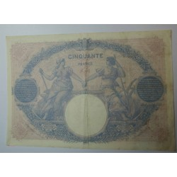 Billet de 50 FRANCS Bleu et rose 4-1-1915 Fay. 14.28 TTB