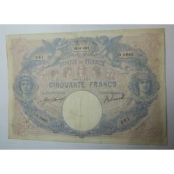Billet de 50 FRANCS Bleu et rose 22-11-1910 Fay. 14.23