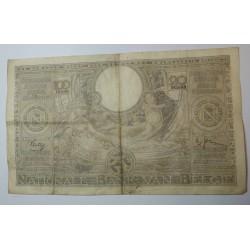 Billet de Belgique 100 Francs 20 Belgas 09-04-1938