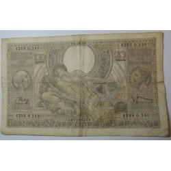 Billet de Belgique 100 Francs 20 Belgas 28-06-1938