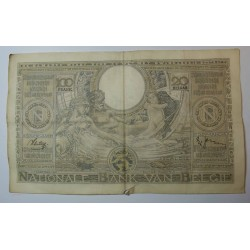 Billet de Belgique 100 Francs 20 Belgas 23-09-1938