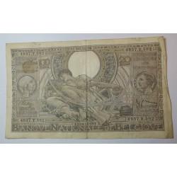Billet de Belgique 100 Francs ou 20 Belgas 06-10-1938