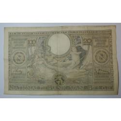 Billet de Belgique 100 Francs ou 20 Belgas 06-12-1938
