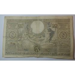 Billet de Belgique 100 Francs ou 20 Belgas 14-12-1938