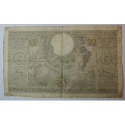 Billet de Belgique 100 Francs ou 20 Belgas 04-01-1939