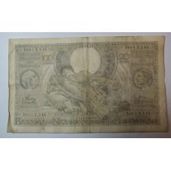 Billet de Belgique 100 Francs ou 20 Belgas 09-01-1939
