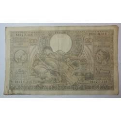 Billet de Belgique 100 Francs ou 20 Belgas 27-01-1939