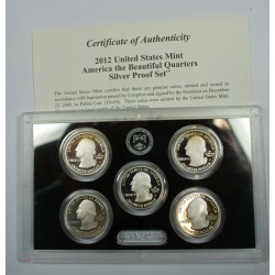 2012 The Beautiful quarters Silver Proof set