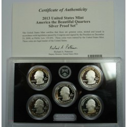 2013 The Beautiful quarters Silver Proof set