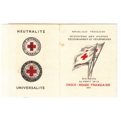 CARNET CROIX ROUGE SANS PUB N° 2004 ANNEE 1954 NEUF** Côte 450 Euros