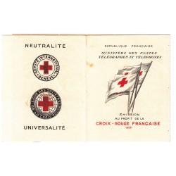 CARNET CROIX ROUGE SANS PUB N° 2004 ANNEE 1954 NEUF**