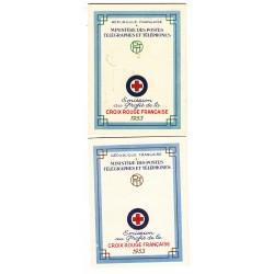 CARNETS CROIX ROUGE SANS PUB N° 2002 ANNEE 1953 NEUFS** VARIANTE COULEUR