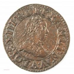 lOUIS XIII - Double tournois 1612 A Paris, type I