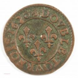 LOUIS XIII - Double tournois 1620 G Poitiers, type 2