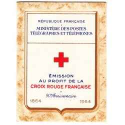 CARNET CROIX ROUGE SANS PUB N° 2002 ANNEE 1953 NEUF** Côte 160 Euros