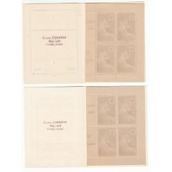 VARIATION DE COULEUR CARNETS CROIX ROUGE SANS PUB N° 2003 ANNEE 1954 NEUFS**