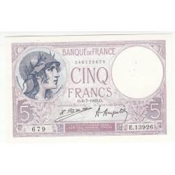 5 FRANCS VIOLET 06.07.1923  SUP+++  Fay 3.7