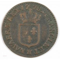 Louis XVI - demi sol à l' écu 1778 H La Rochelle, rare et joli