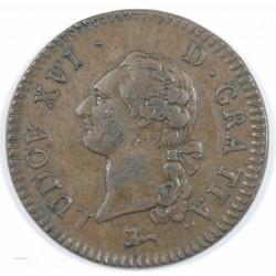 Louis XVI - Sol à l' écu 1787 R Orléans, rare et TTB+