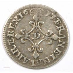 Louis XIIII - 4 Sols 1677 D Lyon