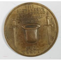 Médaille d' Henri II défenseur de la liberté italienne et germanique 1552