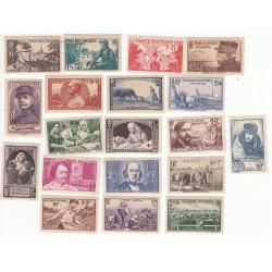 Timbres Année complète 1940 NEUF** Côte 207 Euros