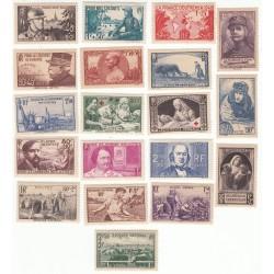 Timbres Année complète 1940 NEUFS** Côte 207 Euros
