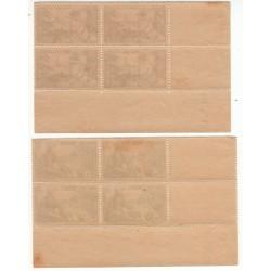 2 Coins Datés Blocs de 4 timbres N°451 et 452 ANNEE 1940 NEUFS** Côte 60 Euros