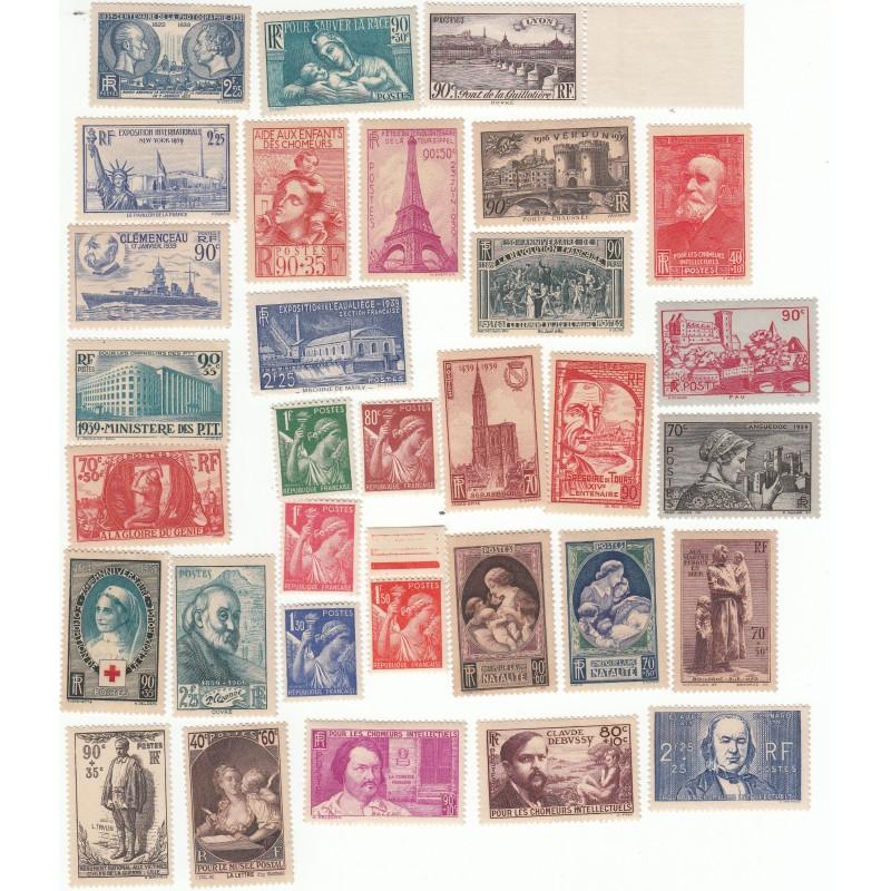 Timbres Année complète 1939 NEUFS** Côte 343 Euros