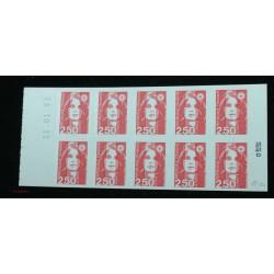 Timbre Variété, Carnet 2874-C6 piquage à cheval 2 timbres NEUF** Signé