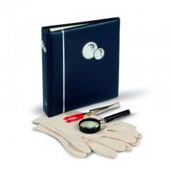 VISTA reliure Classic pour pièces Euros, impreinte tranche et couverture,avec étui protection