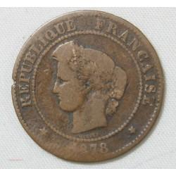 France - Cérès 5 centimes 1878 A - B+
