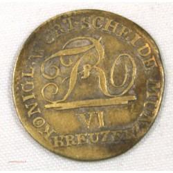 Wurtemberg 6 Kreuzer 1808 Napoléonide
