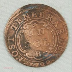 Suisse Canton Genève, 1 sol 1788 B