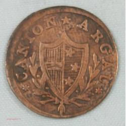 Suisse Canton ARGAU, 2 Rappen 1812