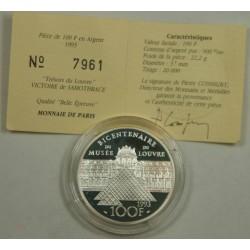 Piefort BU 100 Francs Liberté certificat Argent 30 grs 10000 ex.