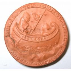 Médaille Epreuve en terre cuite Papale Nicolas V 1447-1455 - terre cuite