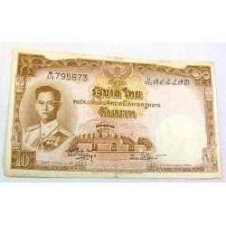 Thailande - 10 Bath 1953 (P076d)