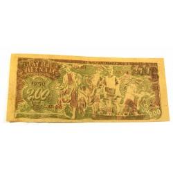 BILLET papier de riz, Vietnam 200 Dông (ND-1950) sup+/spl