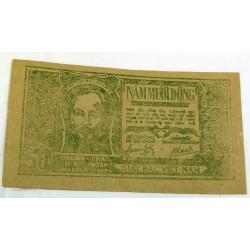 BILLET papier de riz, Vietnam 50 Dông 1948 SUP