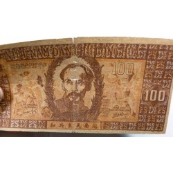 BILLET papier de riz, Vietnam 100 Dông 1948 tb