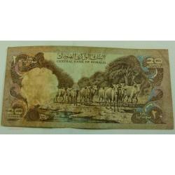 Billet, SOMALIE, 20 shillings 1981