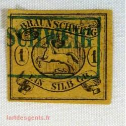 German States Brunswick - 1 silb. N° 7 signé