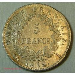 France - Ecu de 5 Francs Napoléon Ier 1812 I Limoges