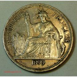 Indochine Française, 1 Piastre 1899 ARGENT