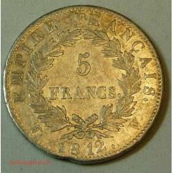 France - Ecu de 5 Francs Napoléon Ier 1812 w Lille