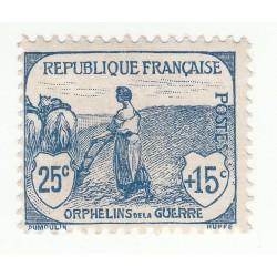 TIMBRE N°151 Orphelin 1917-18 Regommé Côte 65 Euros
