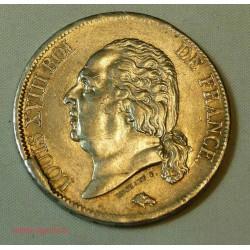 France - 5 Francs 1818 B ROUEN LOUIS XVIII tête nue