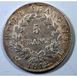 France - Ecu de Napoléon Ier, 5 Francs 1812 L Bayonne