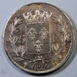 France - Ecu de 5 Francs Louis XVIII 1824 MARSEILLE SUPERBE